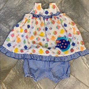 Bonnie Jean 2t southern ruffle dress with bloomers